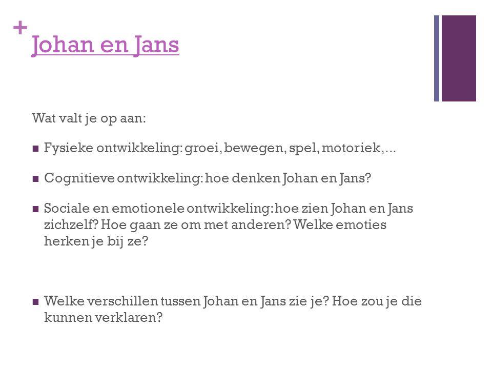Johan en Jans Wat valt je op aan: