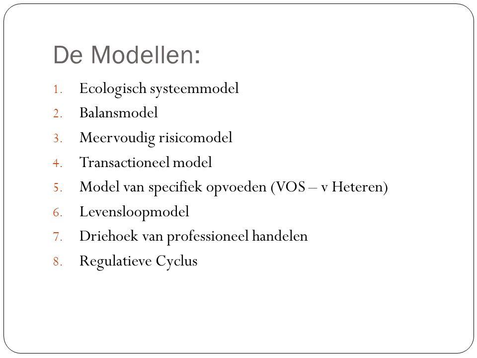 De Modellen: Ecologisch systeemmodel Balansmodel