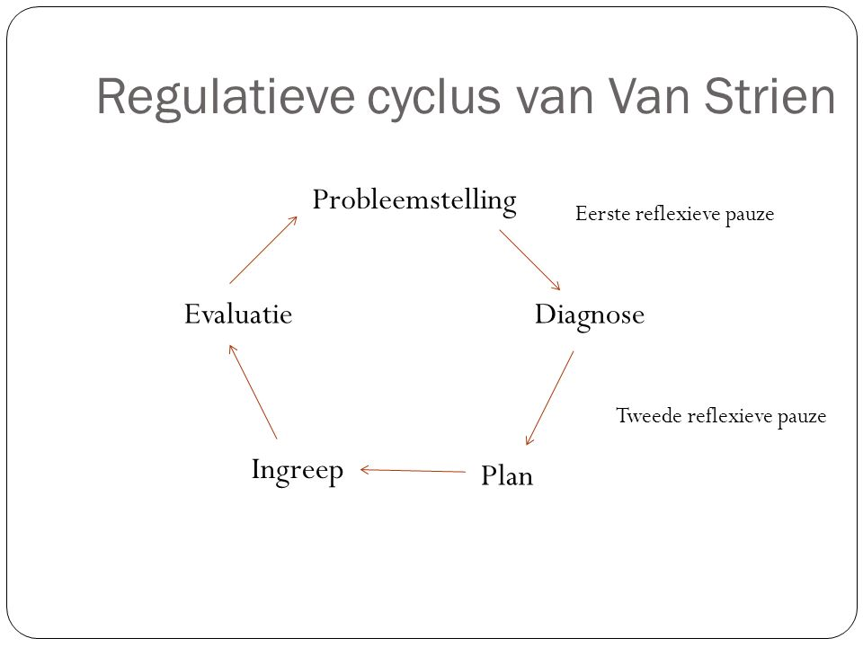 Regulatieve cyclus van Van Strien