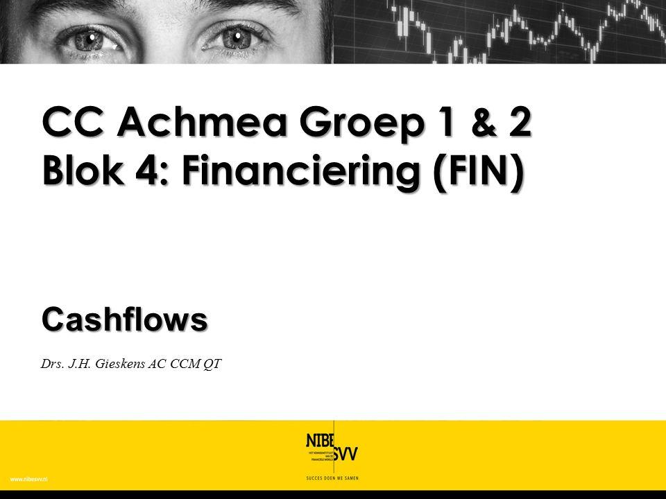 CC Achmea Groep 1 & 2 Blok 4: Financiering (FIN)