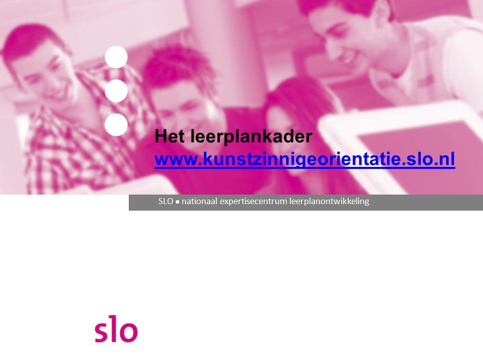 Het leerplankader www.kunstzinnigeorientatie.slo.nl