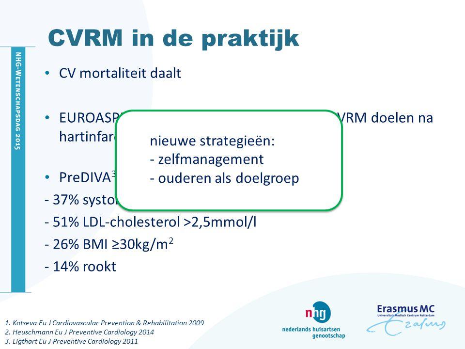 CVRM in de praktijk CV mortaliteit daalt