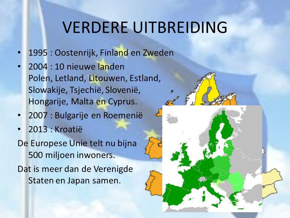 VERDERE UITBREIDING 1995 : Oostenrijk, Finland en Zweden
