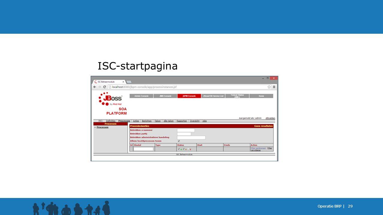 ISC-startpagina Operatie BRP |