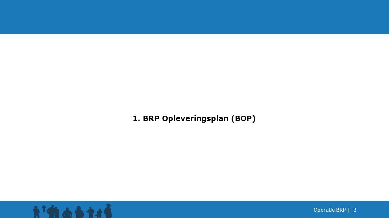 1. BRP Opleveringsplan (BOP)