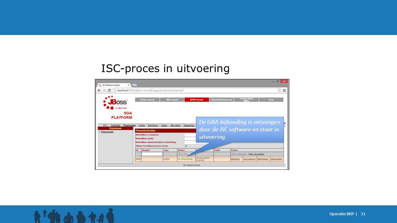 ISC-proces in uitvoering