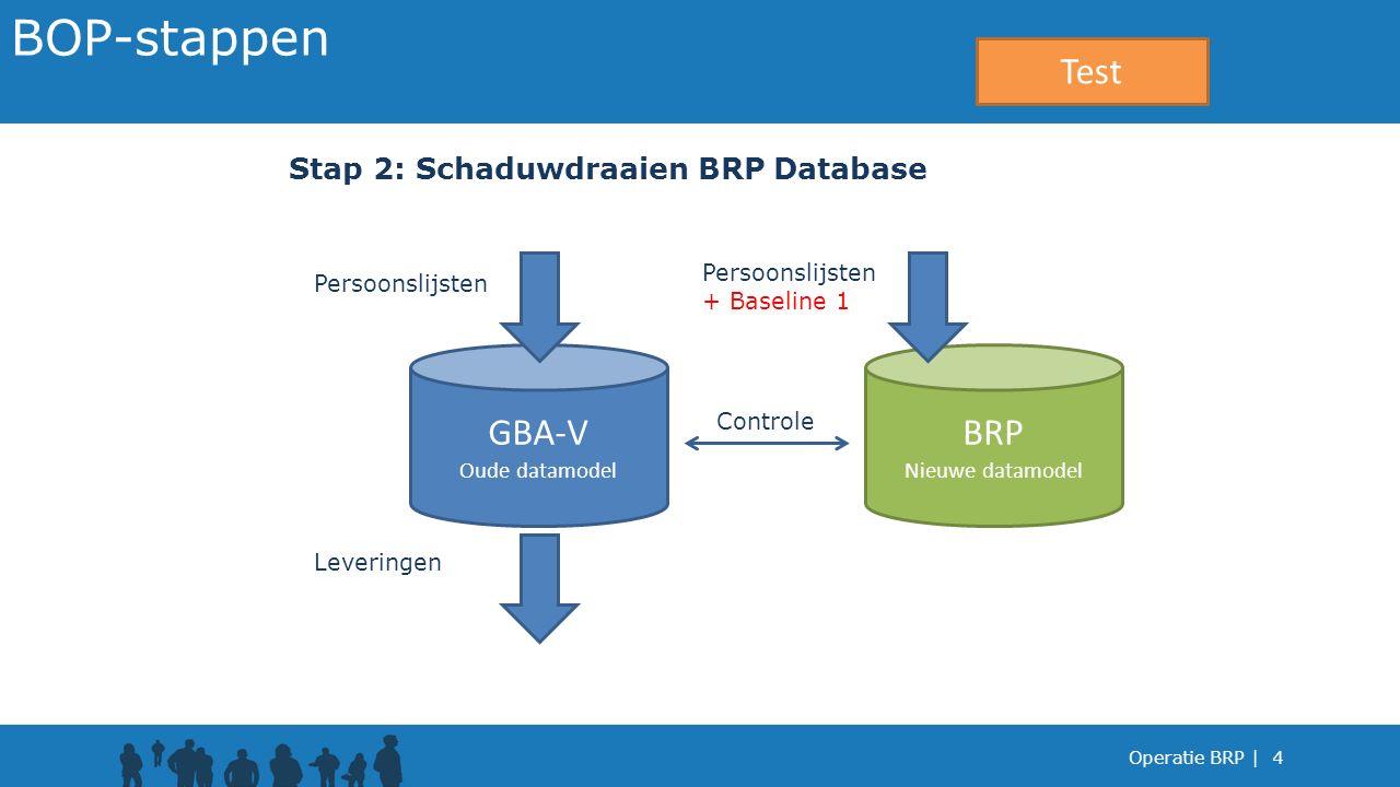 BOP-stappen Test GBA-V BRP Stap 2: Schaduwdraaien BRP Database
