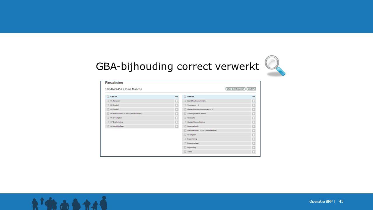 GBA-bijhouding correct verwerkt