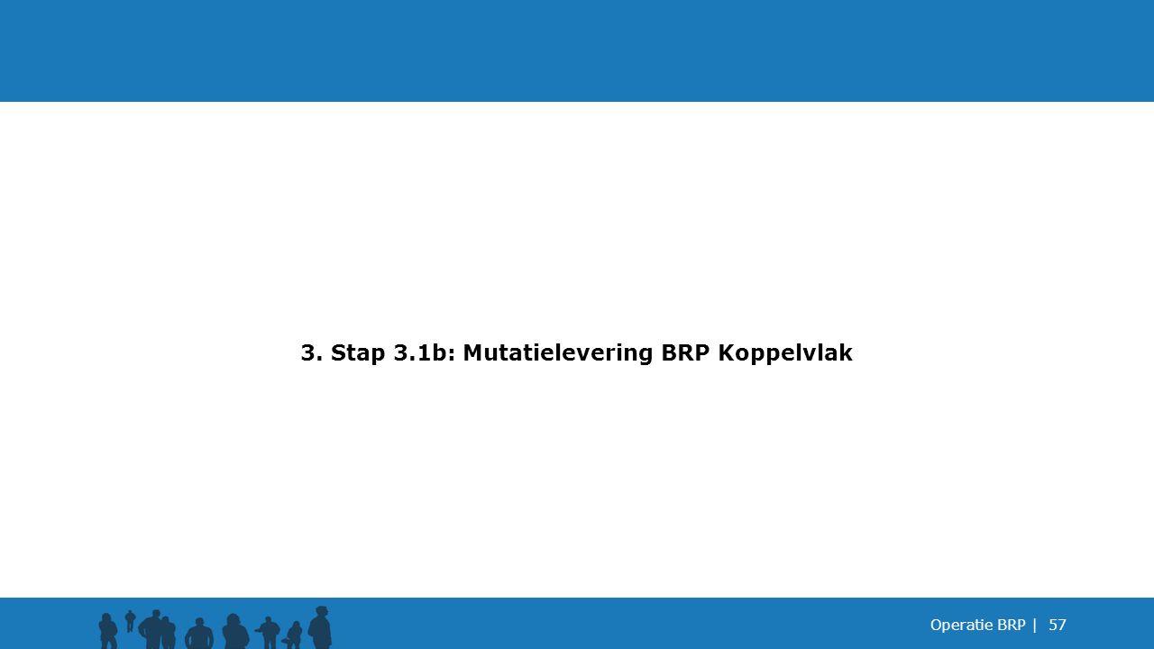 3. Stap 3.1b: Mutatielevering BRP Koppelvlak
