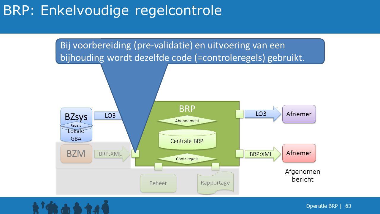 BRP: Enkelvoudige regelcontrole
