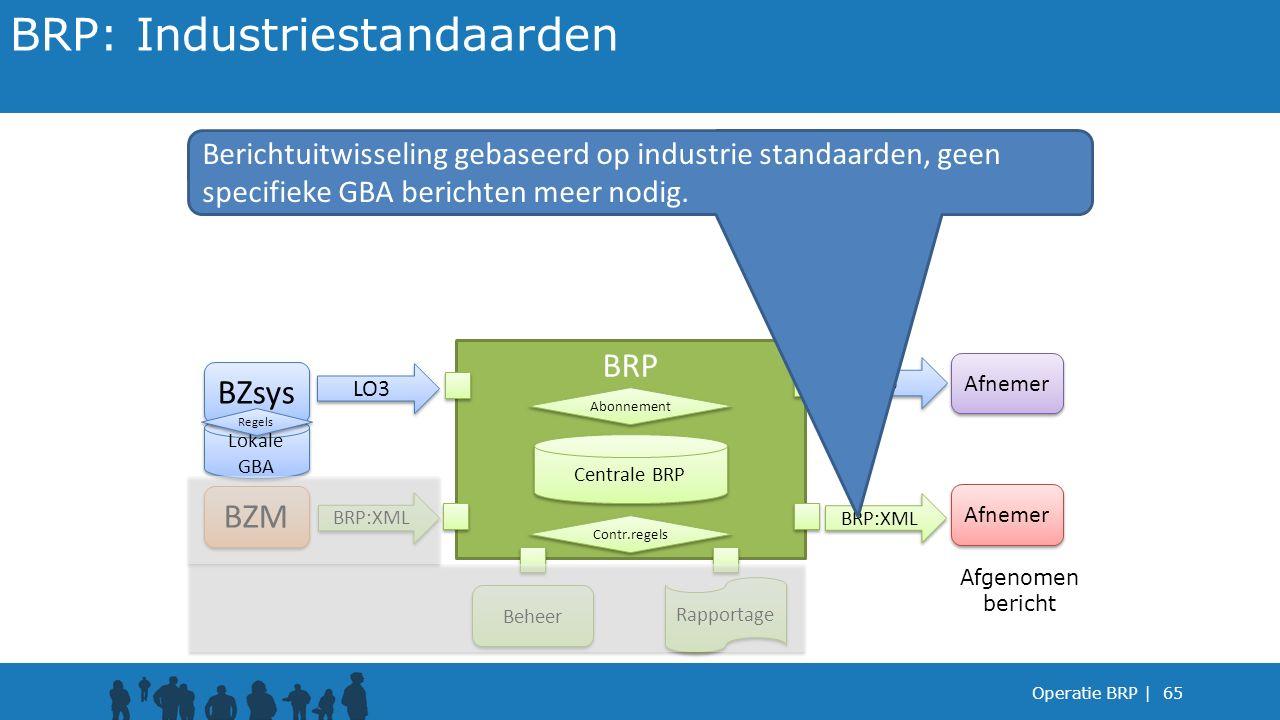 BRP: Industriestandaarden