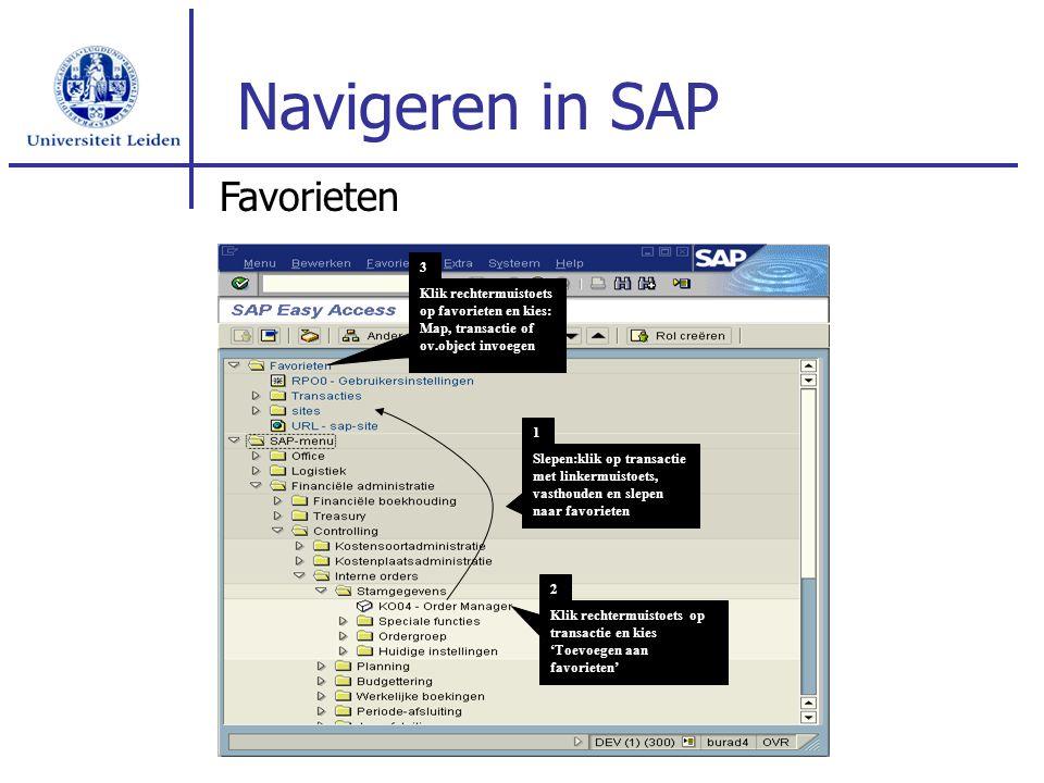 Navigeren in SAP Favorieten 3