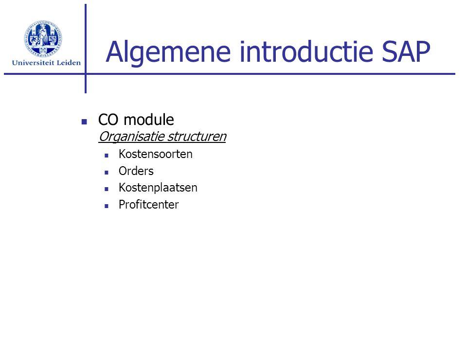Algemene introductie SAP