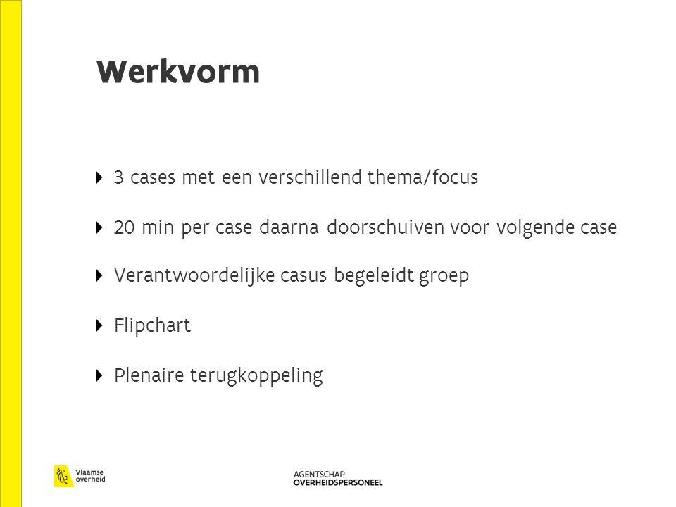 Werkvorm 3 cases met een verschillend thema/focus