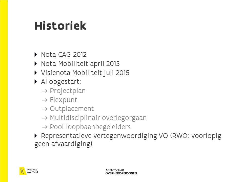 Historiek Nota CAG 2012 Nota Mobiliteit april 2015