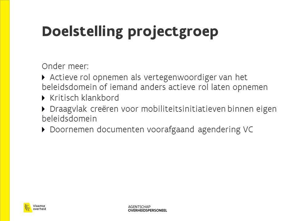 Doelstelling projectgroep