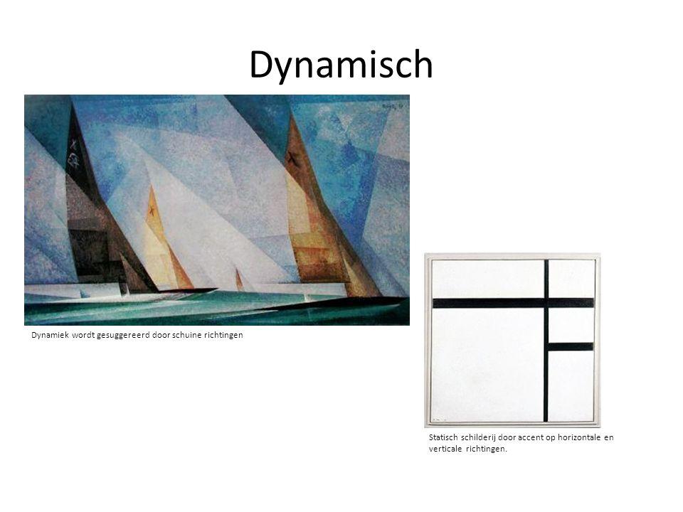 Dynamisch Dynamiek wordt gesuggereerd door schuine richtingen
