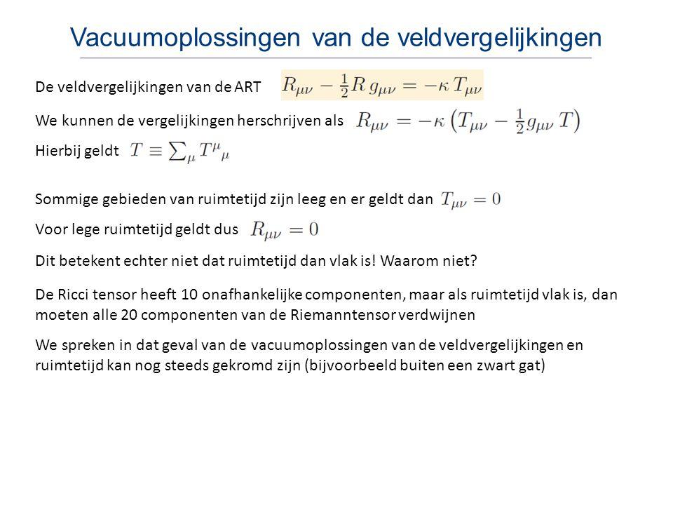 Vacuumoplossingen van de veldvergelijkingen