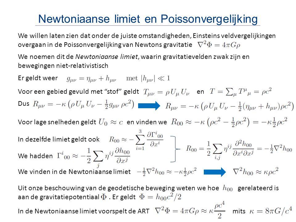 Newtoniaanse limiet en Poissonvergelijking