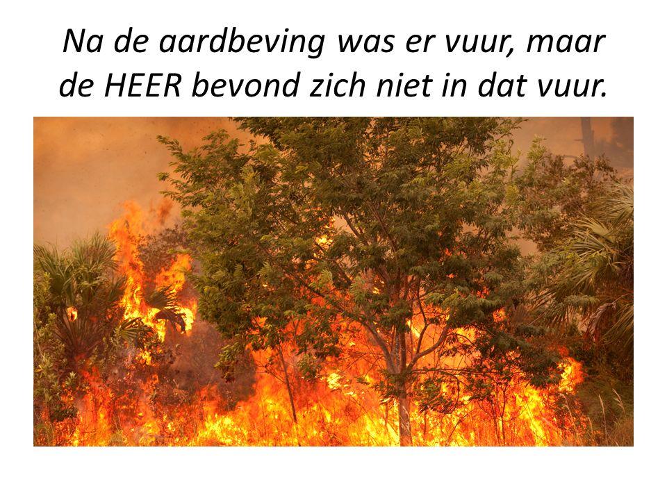 Na de aardbeving was er vuur, maar de HEER bevond zich niet in dat vuur.