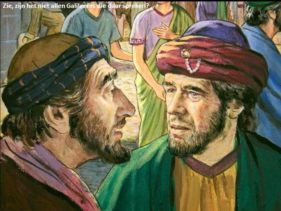 Zie, zijn het niet allen Galileeërs die daar spreken