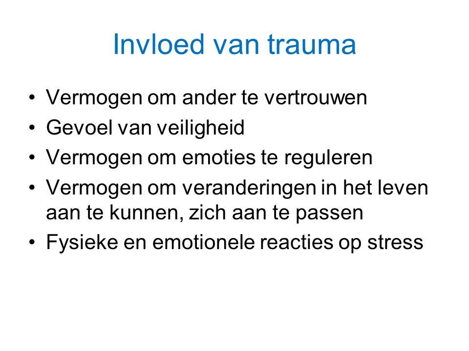 Invloed van trauma Vermogen om ander te vertrouwen