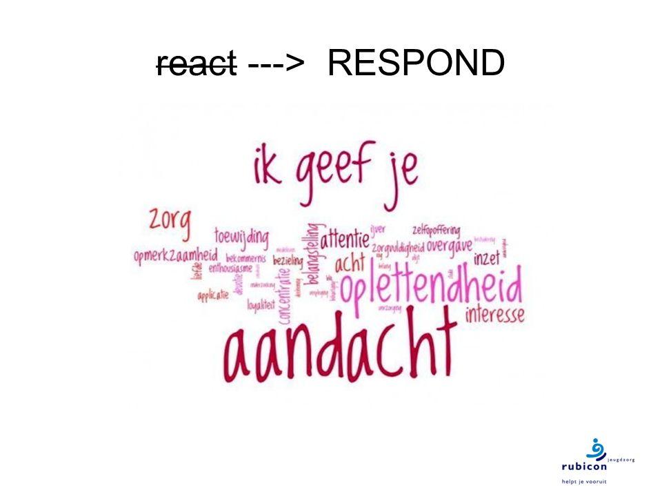 react ---> RESPOND