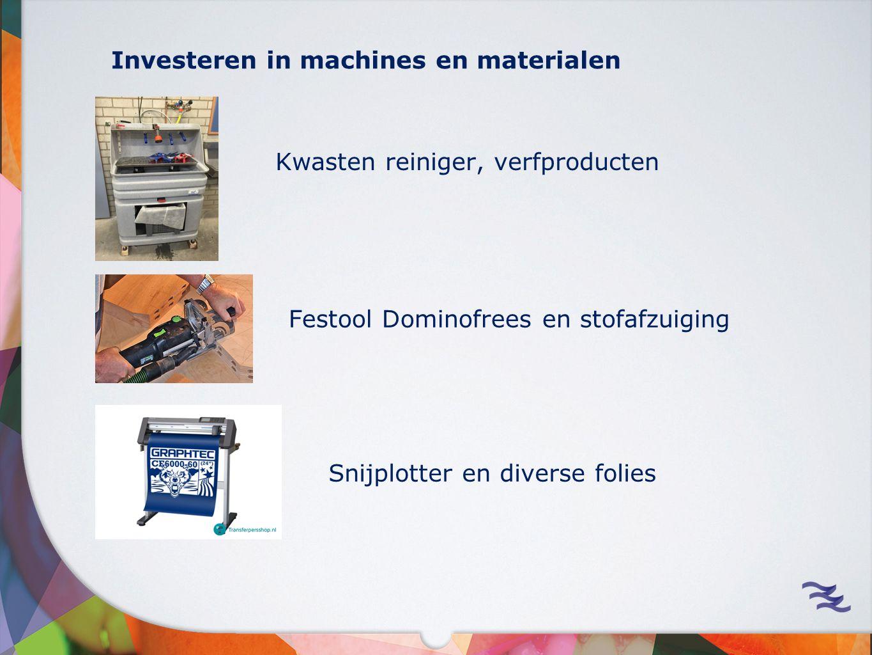 Investeren in machines en materialen