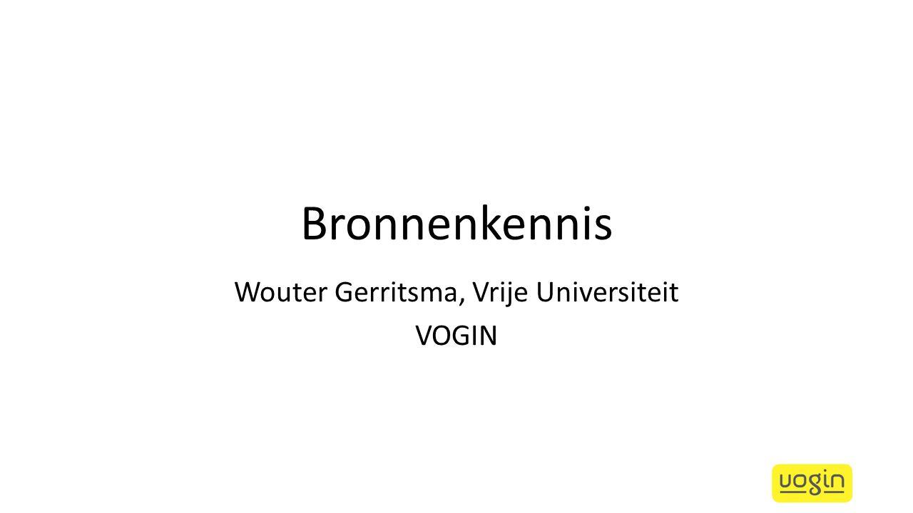 Wouter Gerritsma, Vrije Universiteit VOGIN