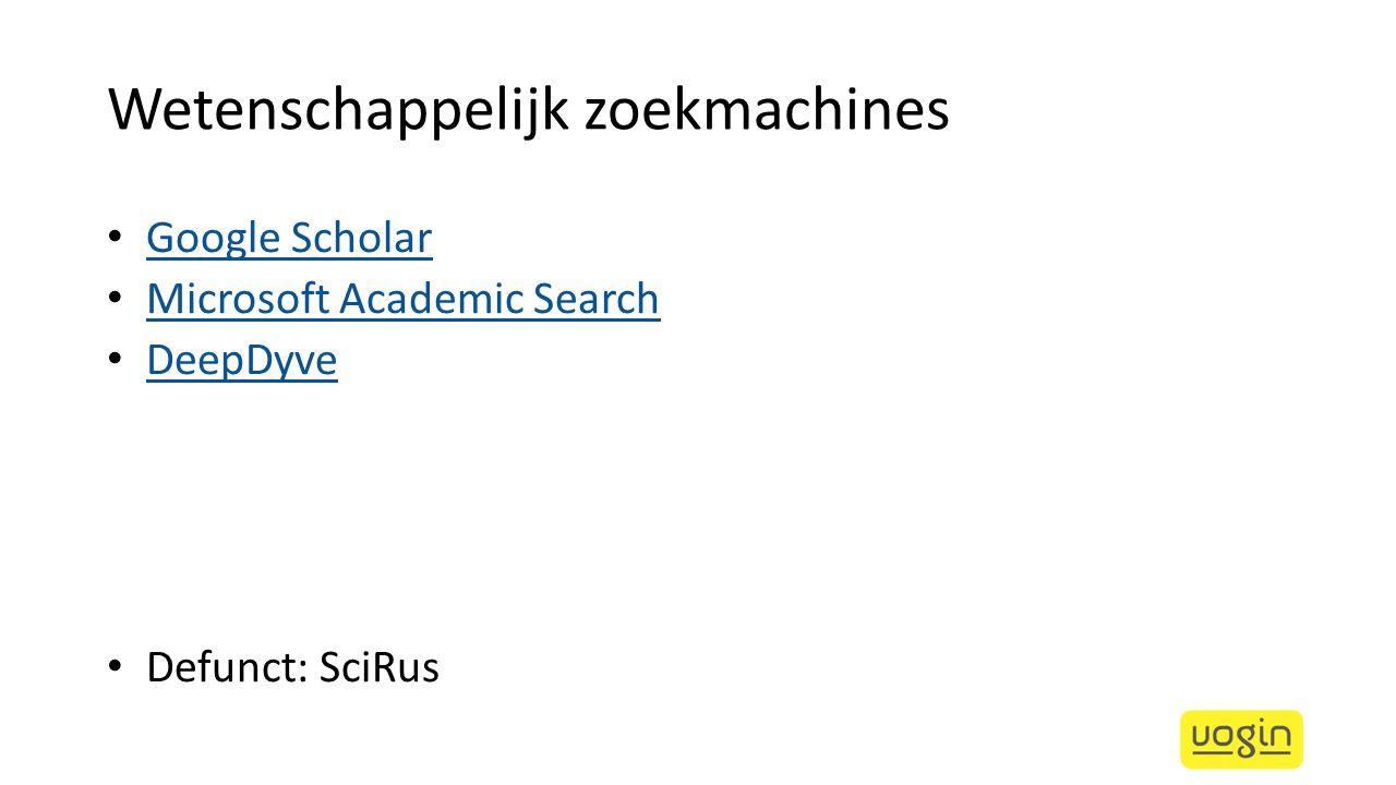 Wetenschappelijk zoekmachines