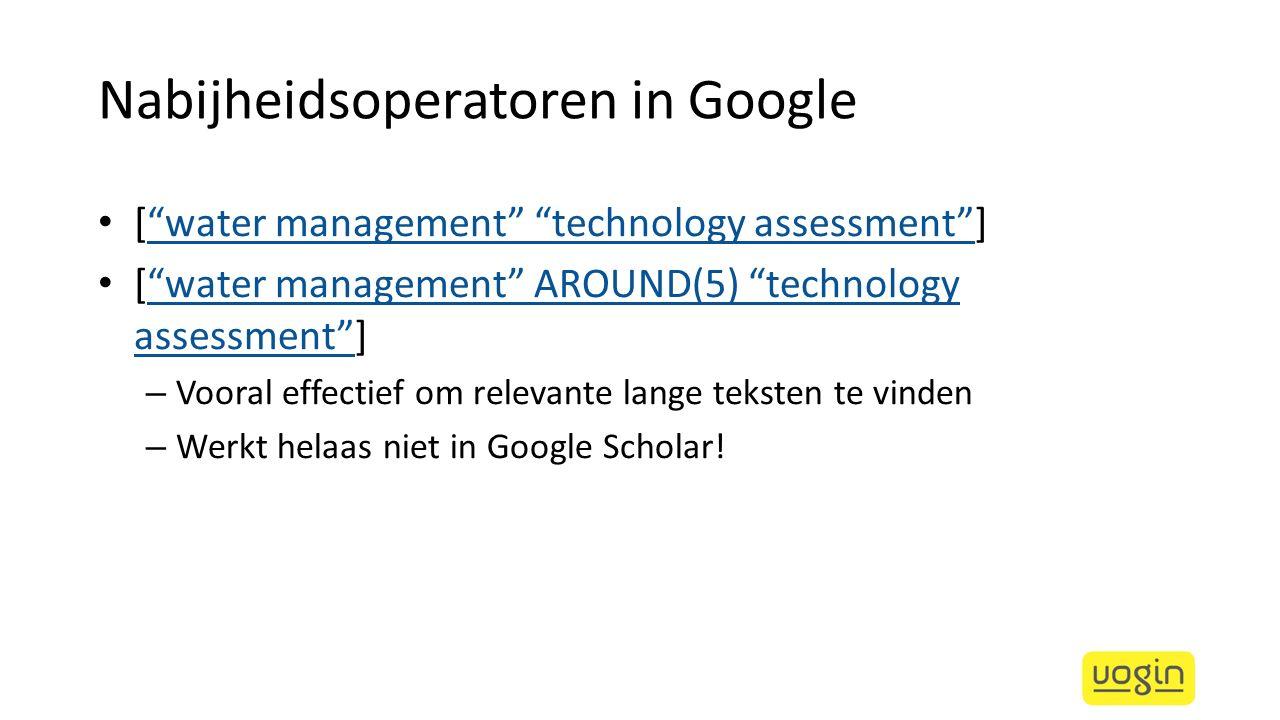 Nabijheidsoperatoren in Google