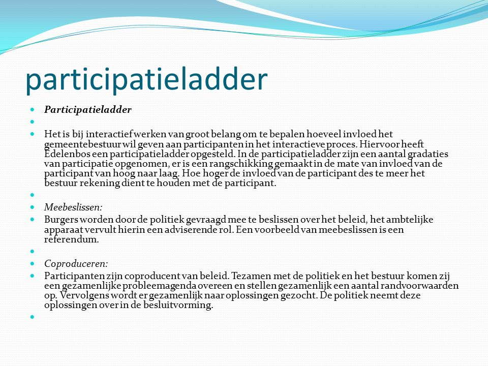 participatieladder Participatieladder