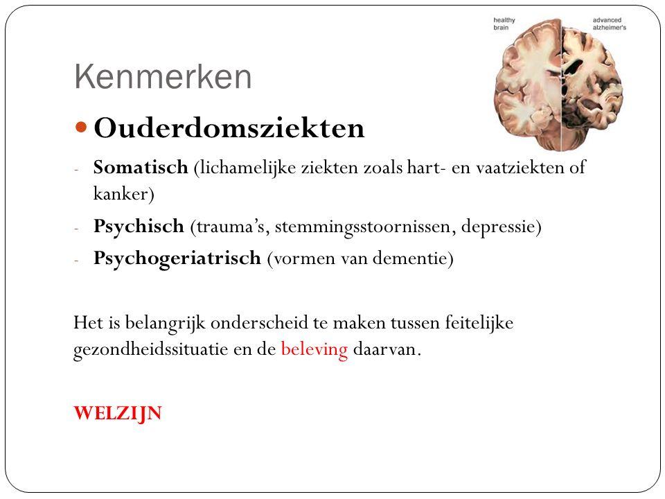 Kenmerken Ouderdomsziekten