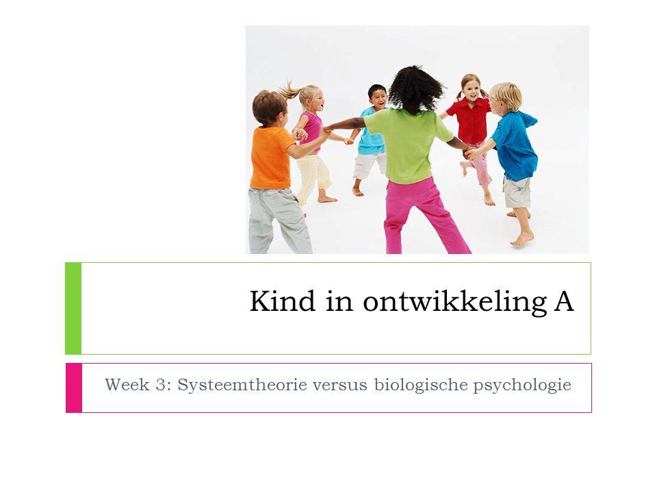 Week 3: Systeemtheorie versus biologische psychologie