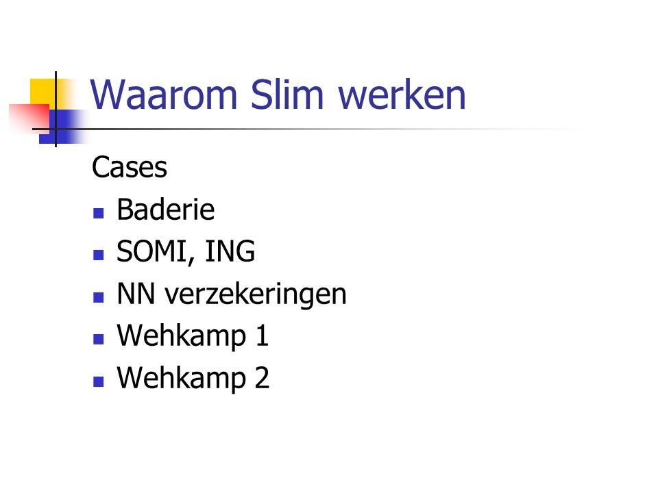 Waarom Slim werken Cases Baderie SOMI, ING NN verzekeringen Wehkamp 1