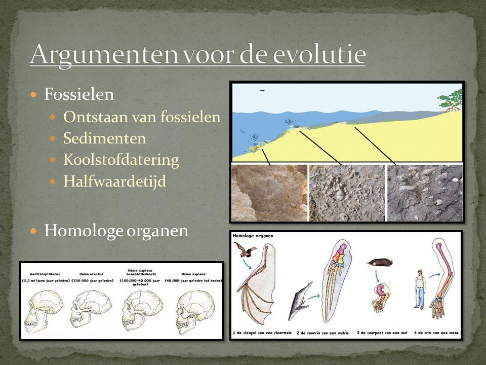 Argumenten voor de evolutie