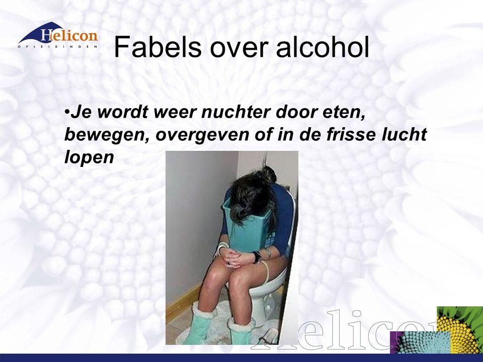 Fabels over alcohol Je wordt weer nuchter door eten, bewegen, overgeven of in de frisse lucht lopen