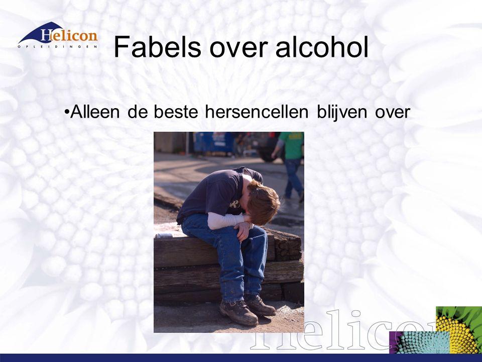 Fabels over alcohol Alleen de beste hersencellen blijven over