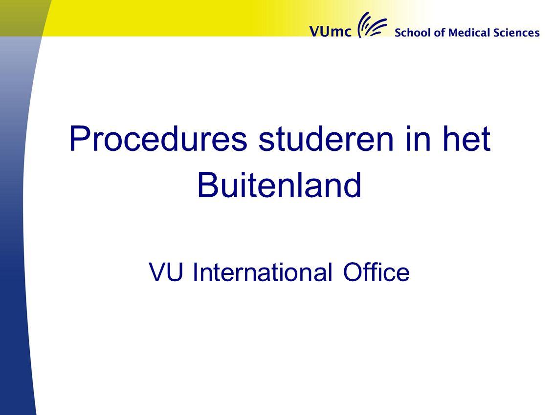 Procedures studeren in het Buitenland