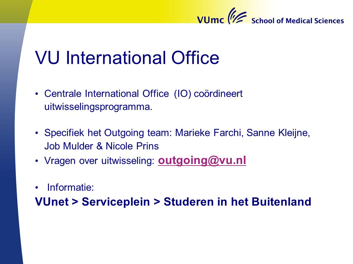 VU International Office
