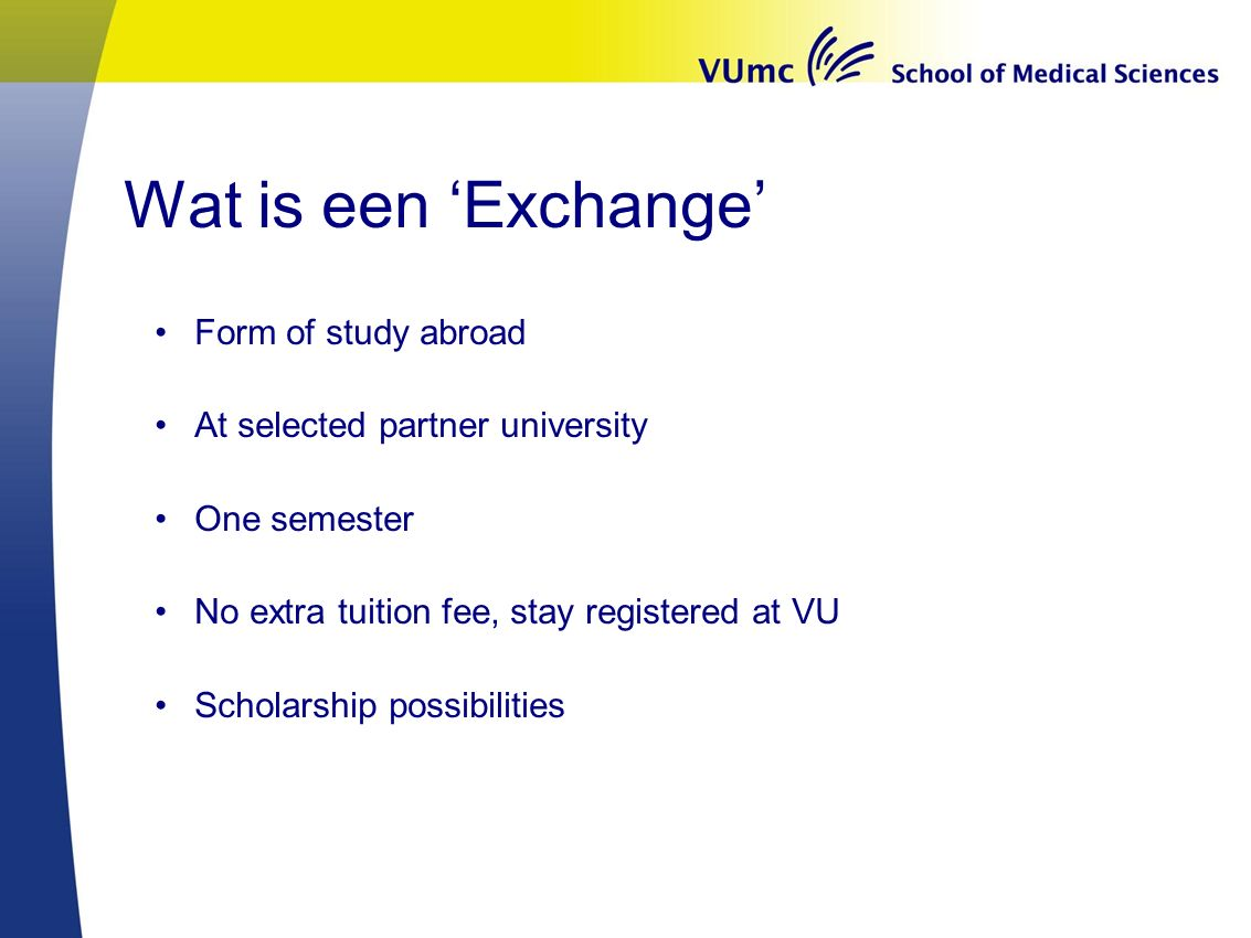 Wat is een 'Exchange' Form of study abroad