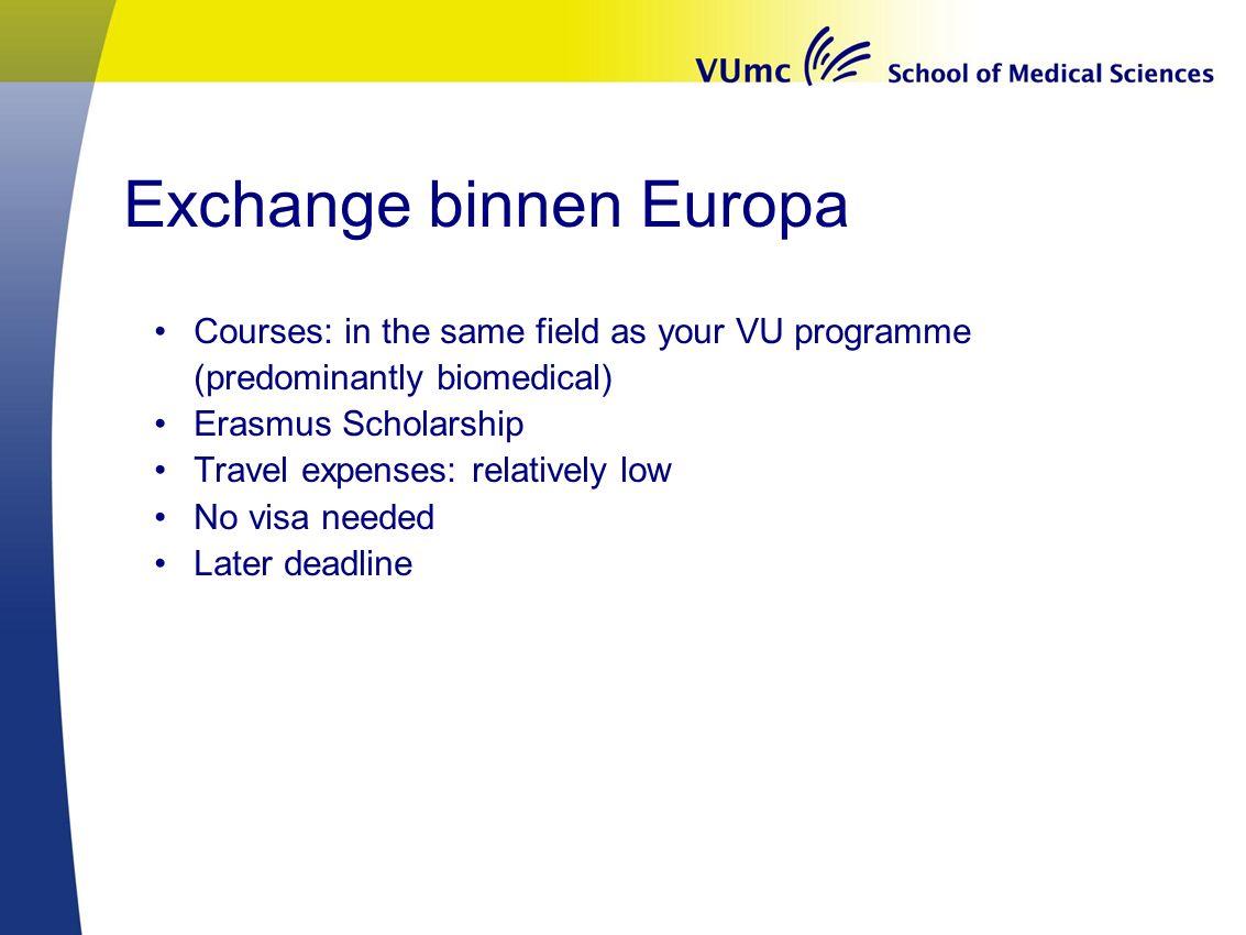Exchange binnen Europa
