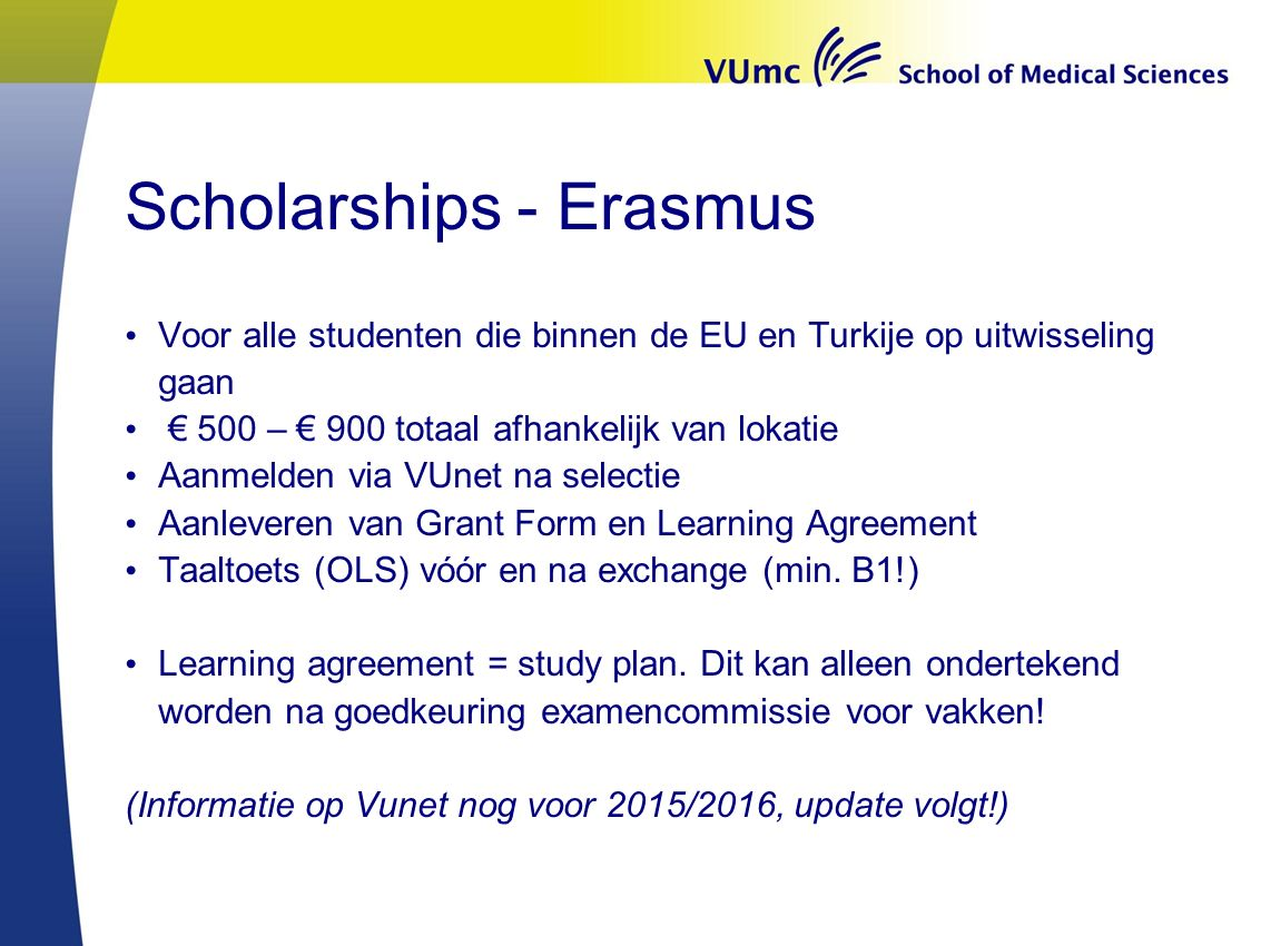 Scholarships - Erasmus