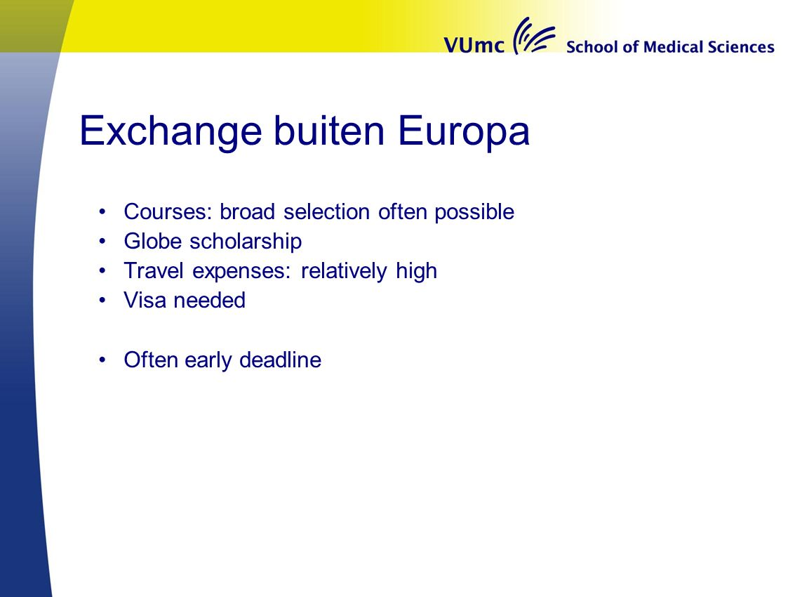 Exchange buiten Europa
