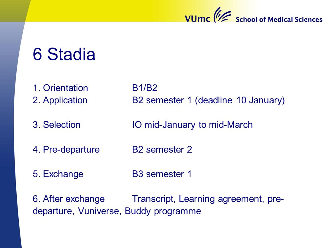 6 Stadia 1. Orientation B1/B2