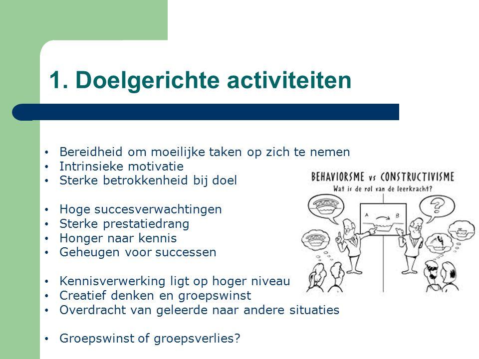 1. Doelgerichte activiteiten