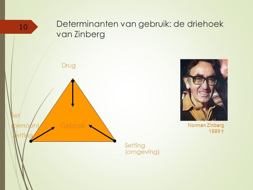 Determinanten van gebruik: de driehoek van Zinberg