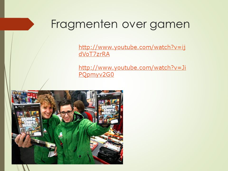 Fragmenten over gamen http://www.youtube.com/watch v=ijdVoT7zrRA
