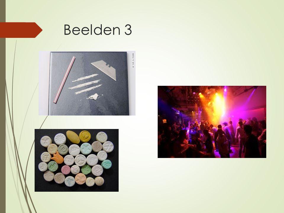Beelden 3 partydrugs: XTC, speed, cocaïne, GHB