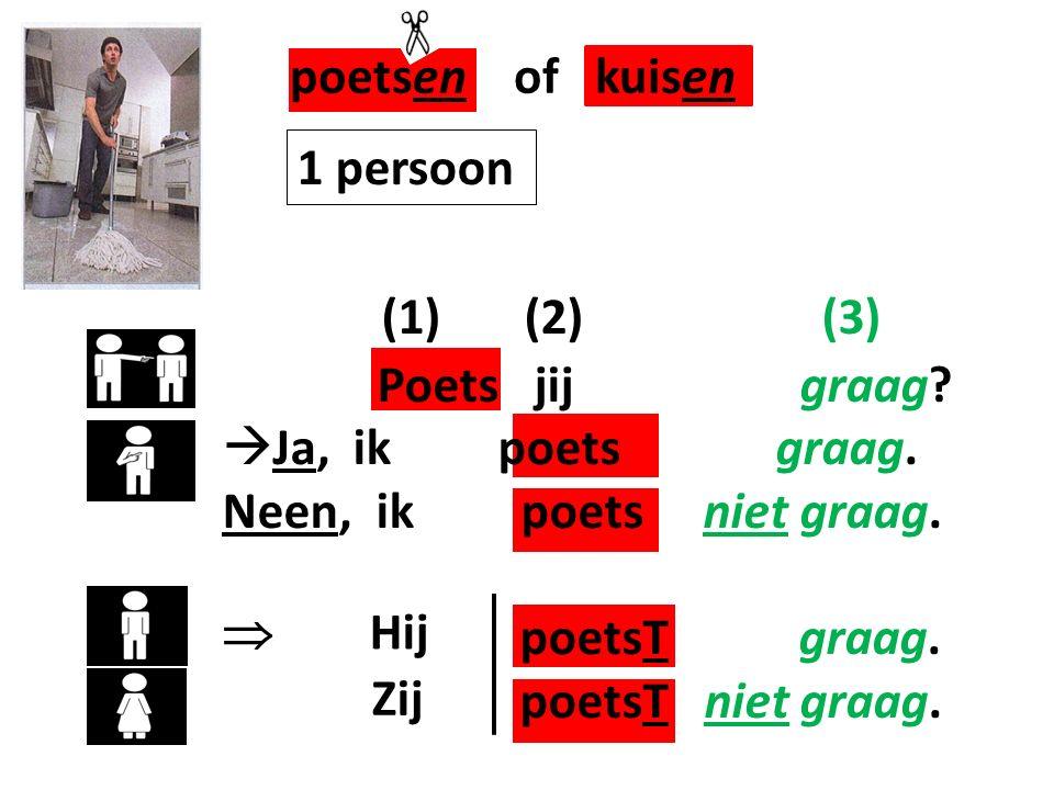 poetsen of kuisen (1) (2) (3) 1 persoon Poets jij graag
